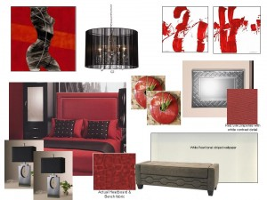 Passionate red bedroom design for Passionate bedroom designs