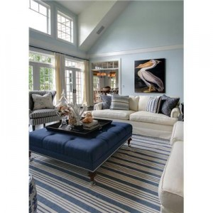 A Dash Albert Rug Anchors The Nautical Living Room