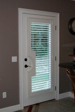 Prior Solution Was To Build Shutter Frame Around Door Handle A Look That My Client